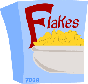 cartoon image of cornflakes